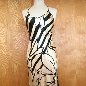 Victoria's Secret black/white print backless gown
